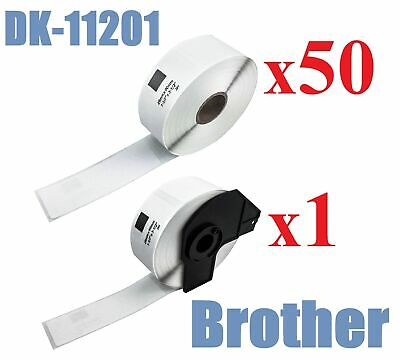 50+1 x Compatible Labels Brother DK-11201 DK11201 29mm x 90mm 400pcs/Roll White