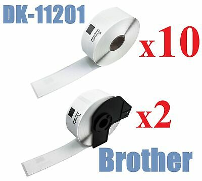 10+2 x Compatible Labels Brother DK-11201 DK11201 29mm x 90mm 400pcs/Roll White