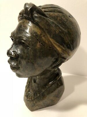 African Stone Bust