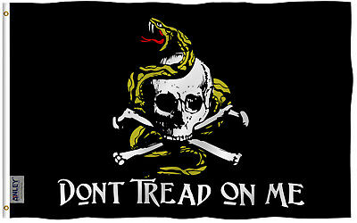 Anley Fly Breeze 3x5 Foot Don't Tread On Me Pirate Flag Jolly Roger Flags