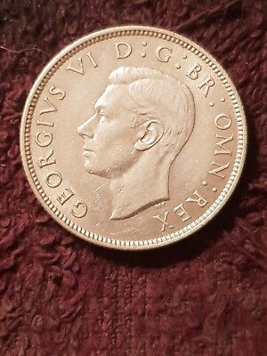 1943 Great Britain 2 Shillings (Florin) Silver King George VI UNC