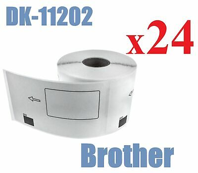 24 x Compatible Labels Brother DK-11202 DK11202 62mm x 100mm 300pcs/Roll White
