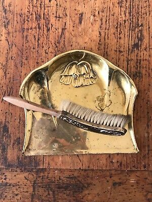Vintage Beldray Brass Crumb Tray & Brush