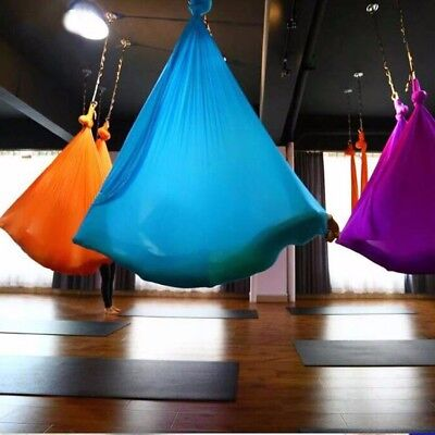 5X2.8M Aerial Yoga Hammock Swing Trapeze Invertion Pilates Sling Anti-Gravity AU