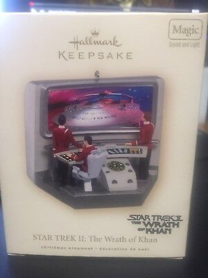 2007 Hallmark Keepsake Christmas Ornament Star Trek II 2 the Wrath of Khan magic