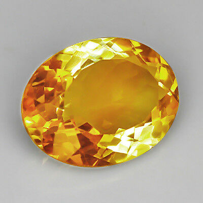 VVS 13.9Ct 15x20mm 100% Natural Brazilian Golden Citrine Precious Faceting UQY37