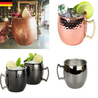 530ML Moscow Mule Becher Tassen Kupferbecher Kupfer Cocktailgläser Becher Hot DE