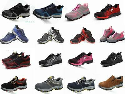 Men Womens Safety Trainers Shoes Work Steel Toe Breathable Cap Hiker Ankle Boots
