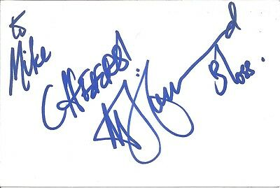 Mona Hammond actress signed white card dedicated in person autograph Z2562
