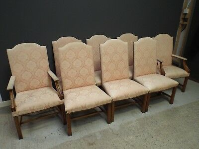 Set of 8 Eight Solid Oak Gainsborough Style Dining Chairs BRIGHTS OF NETTLEBED
