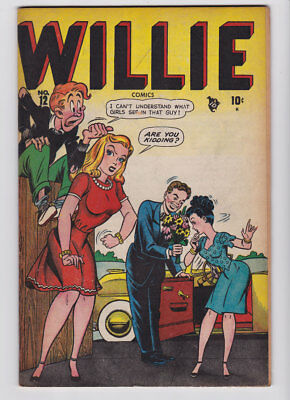 WILLIE COMICS # 12 1948 Timely MARGIE Mike Sekowsky OSCAR FN+ 6.5 JVJ