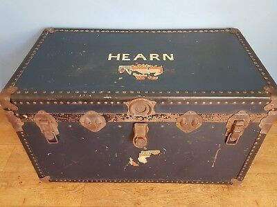 Antique Vintage Cunard steamer Trunk/chest 1950's