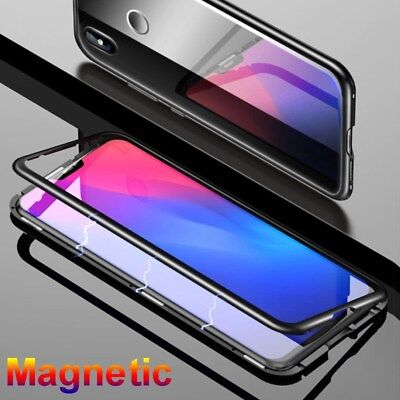 Magnetic Absorption Tempered Glass Case Metal Edge Cover For Xiaomi mi8 SE mi8