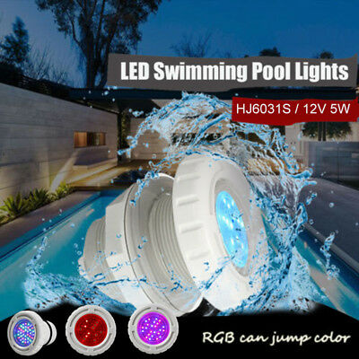 LED Swimming Pool Underwater Light Spa RGB Color For Wall Fittings Waterproof