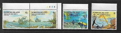 1990 Norfolk Island Wreck of the Sirus set 4 Complete MUH/MNH as Issued