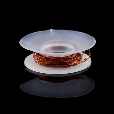2x2.0MM Solder Wick Remover Desoldering Braid Wire Sucker Cable Fluxed Flux HGUK