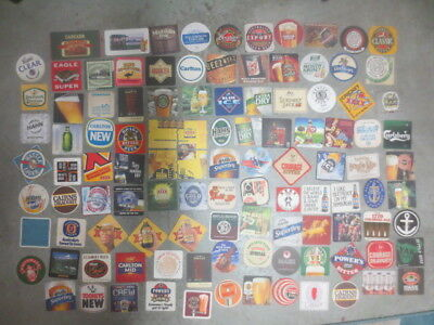 "106 different  AUSTRALIAN Breweries Issued  BEER COASTERS  "" A """