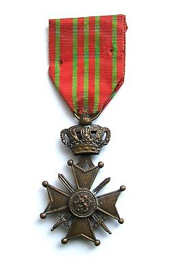 Belgium: Original WW1 War Cross Medal (Croix de Guerre) 1914-1918