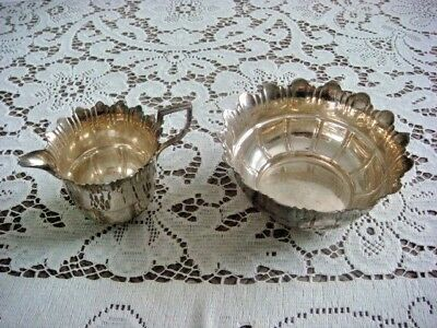 Silver Plated Creamer and Sugar Bowl