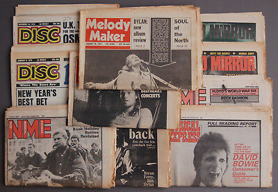 JOB LOT 10 MUSIC PAPERS – 1970s & 1980 NME, DISC, RECORD MIRROR, MELODY MAKER