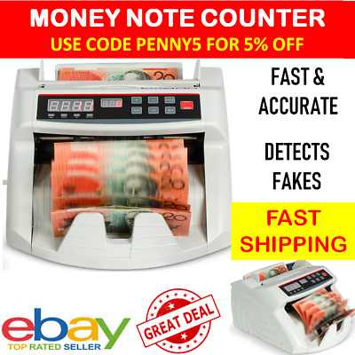 New Money Counter Note Cash Portable Digital Sorter Australia Fast Reliable AUD