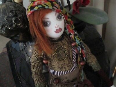 handmade gypsy cloth doll 'LAVINIE'