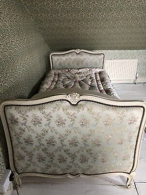 Single Antique Upholstered Bed Capitone French
