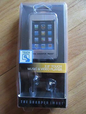 "6K/new Sharper Image Touch Screen Music + Video Player/2.8"" Screen/rare!"