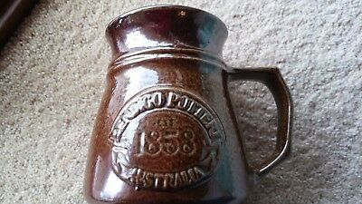 Large Bendigo '1858' Pottery Salt Glazed Mugs/Beer Stein
