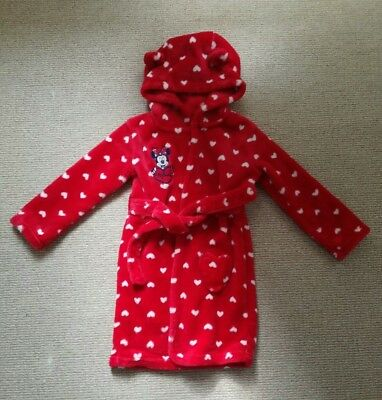 Baby girls Disney Baby Minnie Mouse red polka dot dressing gown age 18-24 months