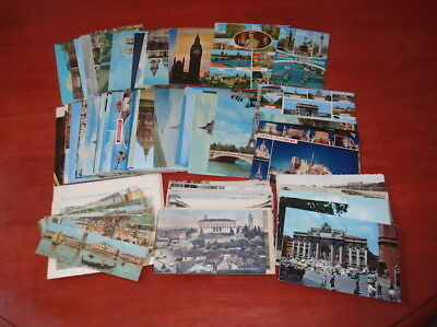 Vintage Lot Of 144 Postcards From London - France - Italy