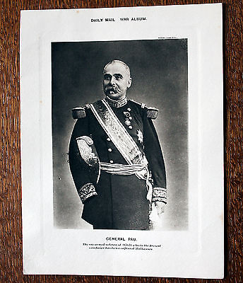 Daily Mail War Album Portrait – General Pau  (Le1)