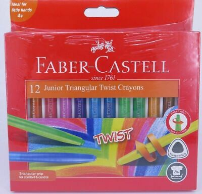 Faber-Castell Junior Twist Crayons 12 Pack Assorted Colours 21-010036