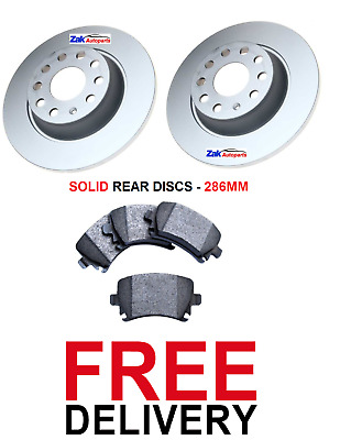 1.6 1.8 1.9 TDi 01-05 REAR 2 BRAKE DISCS /& PADS AUDI A4 B6 NOT QUATTRO
