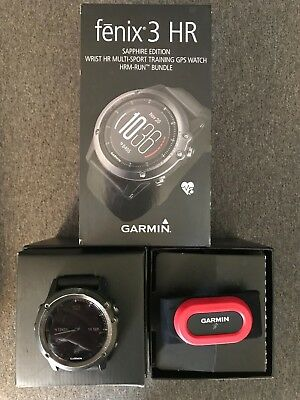 Garmin Fenix 3 HR Sapphire Edition HRM Run bundle with Bonus grey, sport band