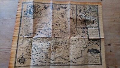 1610 Map Of County Durham. An Antiqued Parchment Replica by John Speede