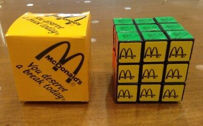 Vintage 1980's McDonald's Cube Puzzle Game NEW In Box