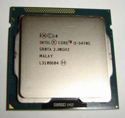 Intel Core i5 3470S SR0TA 2.9GHz (3.6GHz Turbo) 6MB Cache 65W So.1155 Prozessor