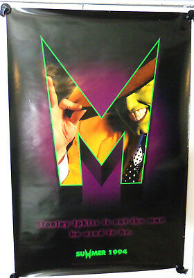 1994 THE MASK - Jim Carrey - Advance Movie Poster - Double Sided