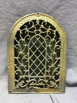 Antique Cast Iron Arch Dome Top Floor Register Heat Grate 8x12 Old Vtg 72-18C