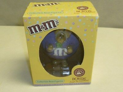 Boyd Bears M&M's PURPLE in box collectible resin figurine Style #919005