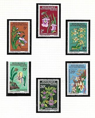 Central African Republic  -1966 - Mint  NH -  Orchids - Set of 6   Scott# 67-72