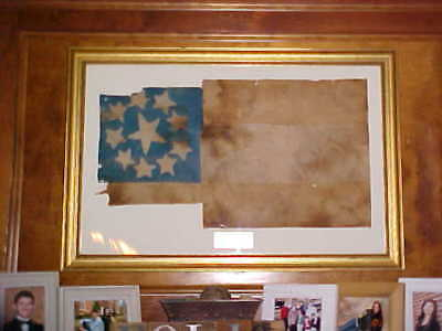 "Original Civil War CSA FIRST NATIONAL FLAG w/Letters of Authenticity 20"" x 35"""