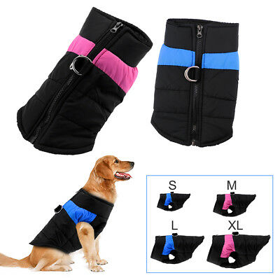 Dog Puppy Pet Warm Padded Coat Thick Winter Puffer Jacket Clothes Waterproof UK