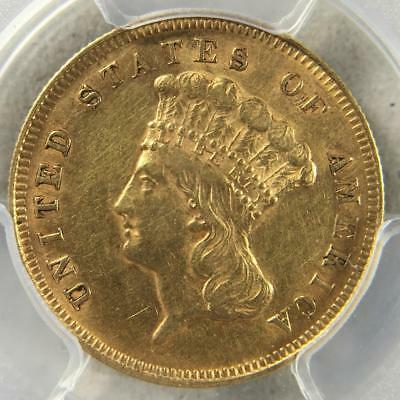 1878 $3 Indian Princess Gold Three Dollars PCGS AU About Uncirculated *D07