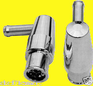 PCV Valve Billet Polished Aluminum 90deg 90 degree Mini 3/4 Size Fit Chevy Ford