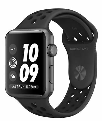 Apple WATCH SPORT SERIES 2 Nike+ 42mm MQ182LL/A Space Gray Case Anthracite/Black