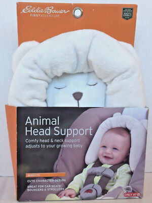 Eddie Bauer Baby Animal Head Support for Car Seats, Strollers, and Swings, Bear
