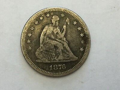 1876-S SEATED LIBERTY QUARTER - SCARCE Collectable Date NR