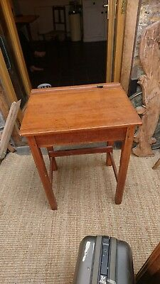 Antique Vintage School Desk. Beautiful condition. Oak and cast iron